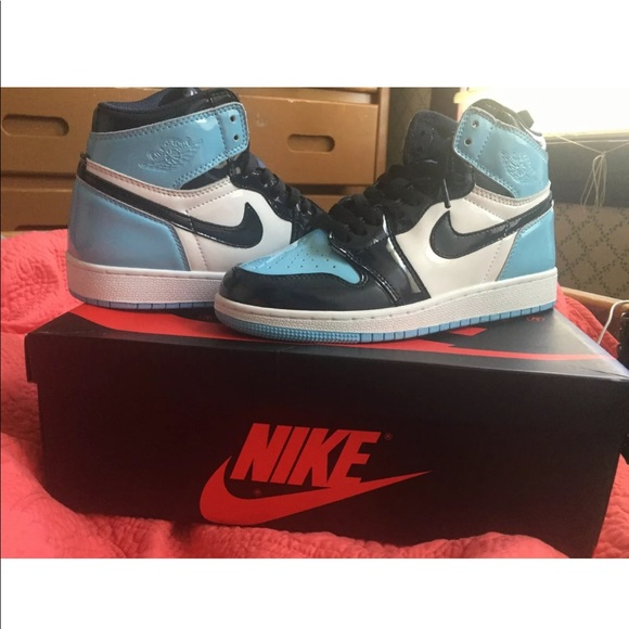 Jordan Shoes Air 1 Retro High Og Unc Patent Blue Chill Poshmark